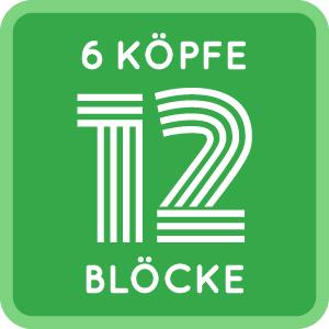 6 Köpfe - 12 Blöcke