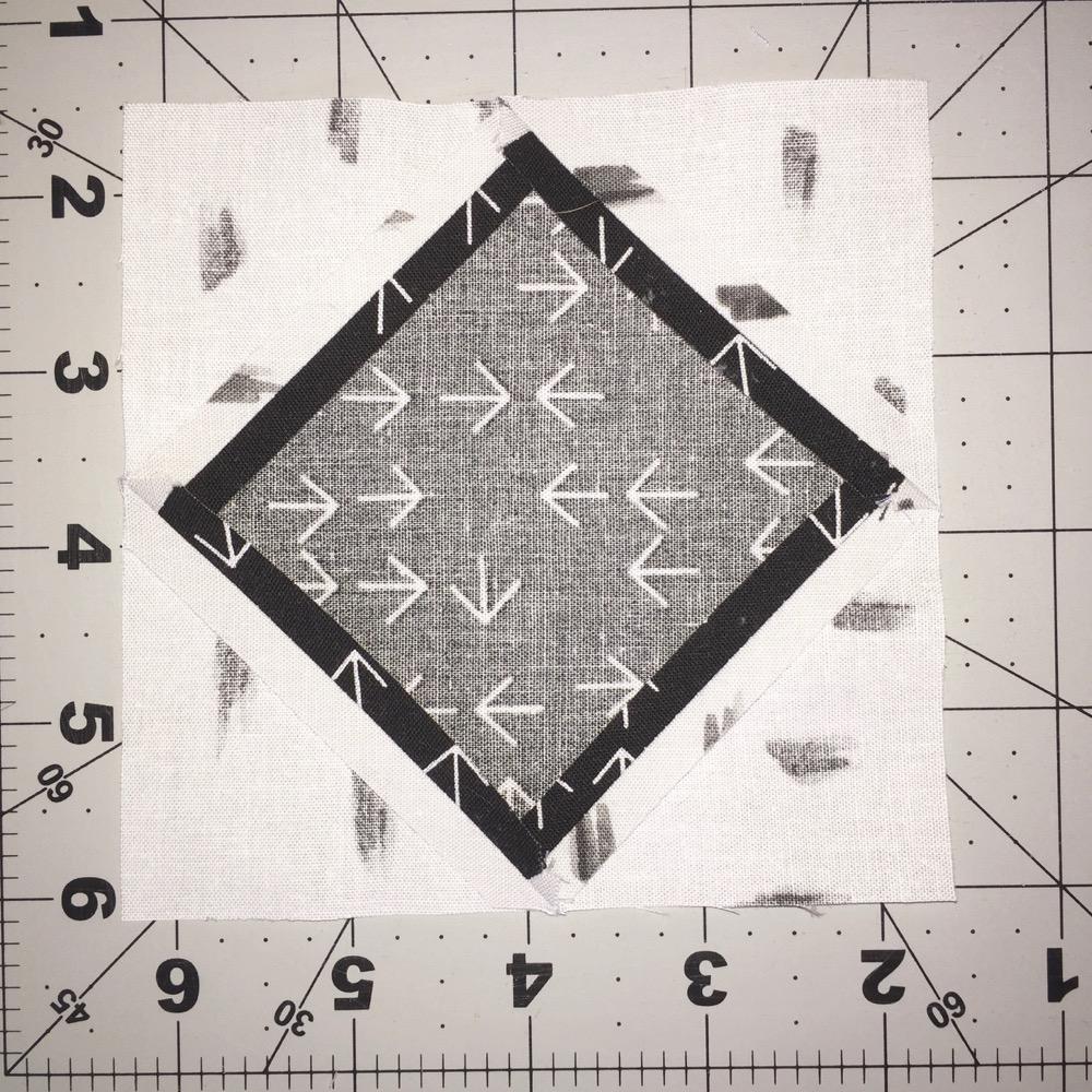Square inSquare Block Nähte auseinander bügeln