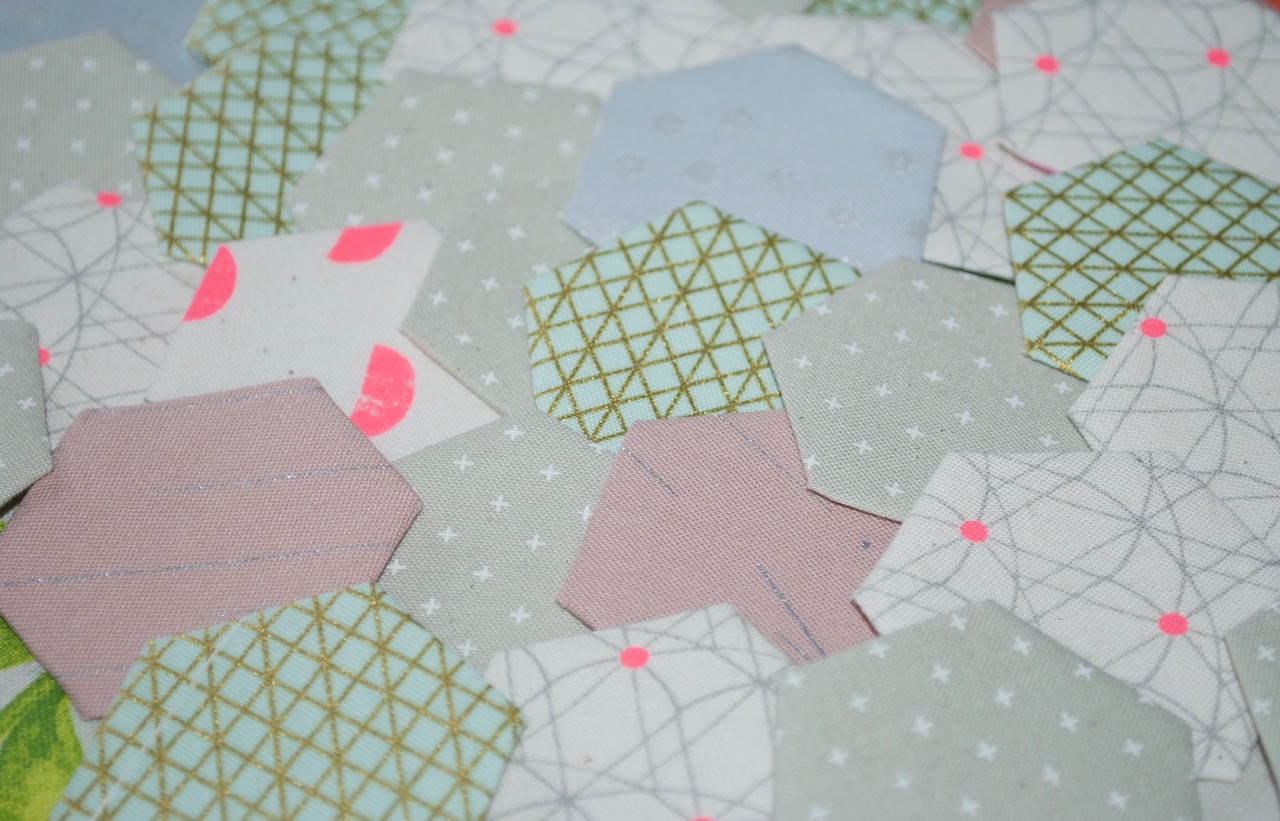 Cotton and Steel Hexies