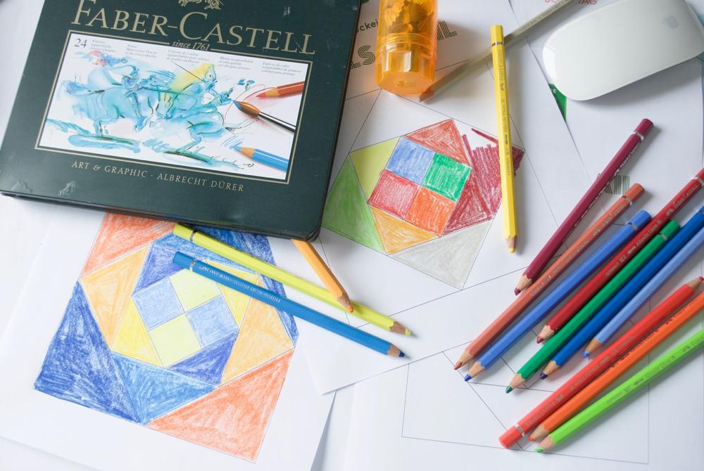 Faber Castell Ausmalbild Juli Block