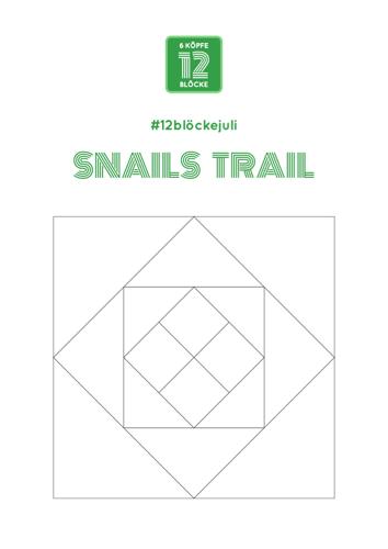 Ausmalblatt Snails Trail