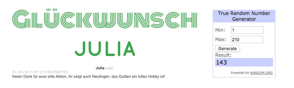 Gewinnerin Julia