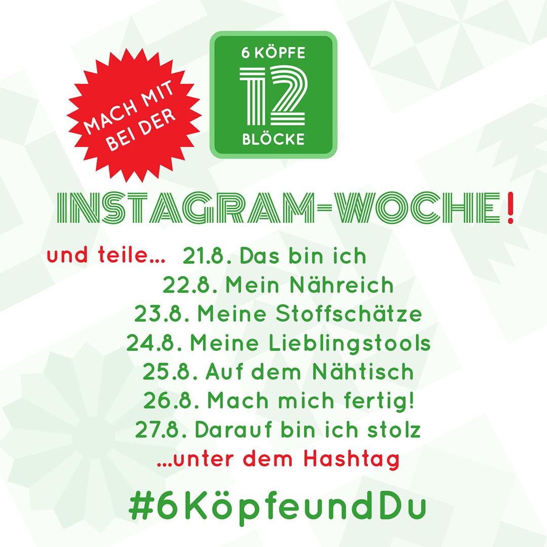 Instagramwoche Button 6KöpfeundDu