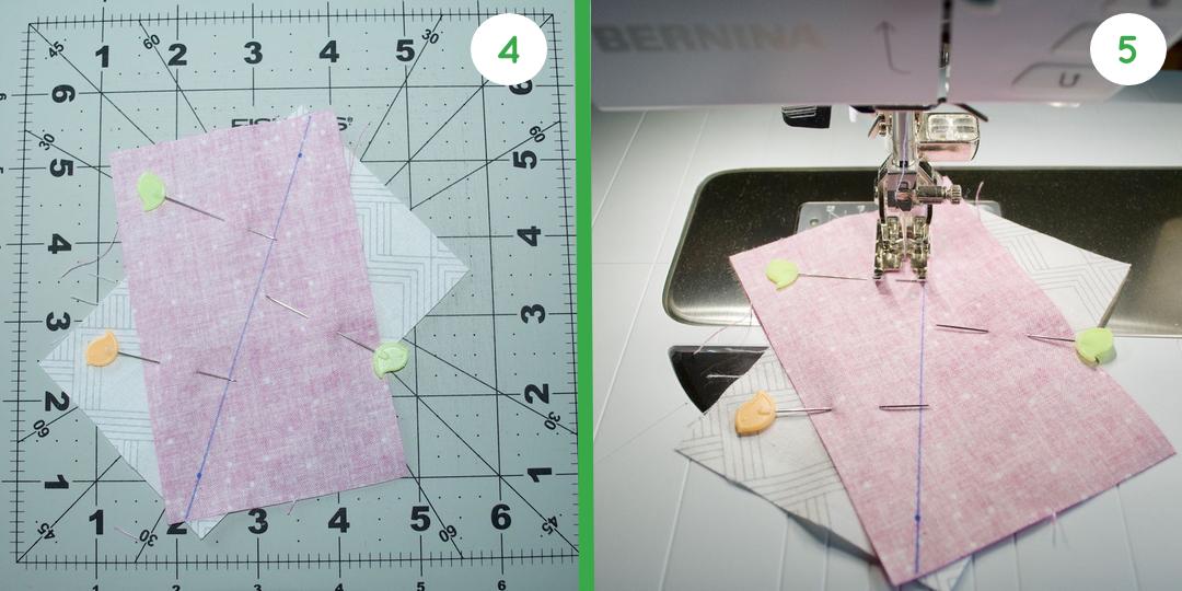 Half Rectangle Triangle Schritt 4 und 5
