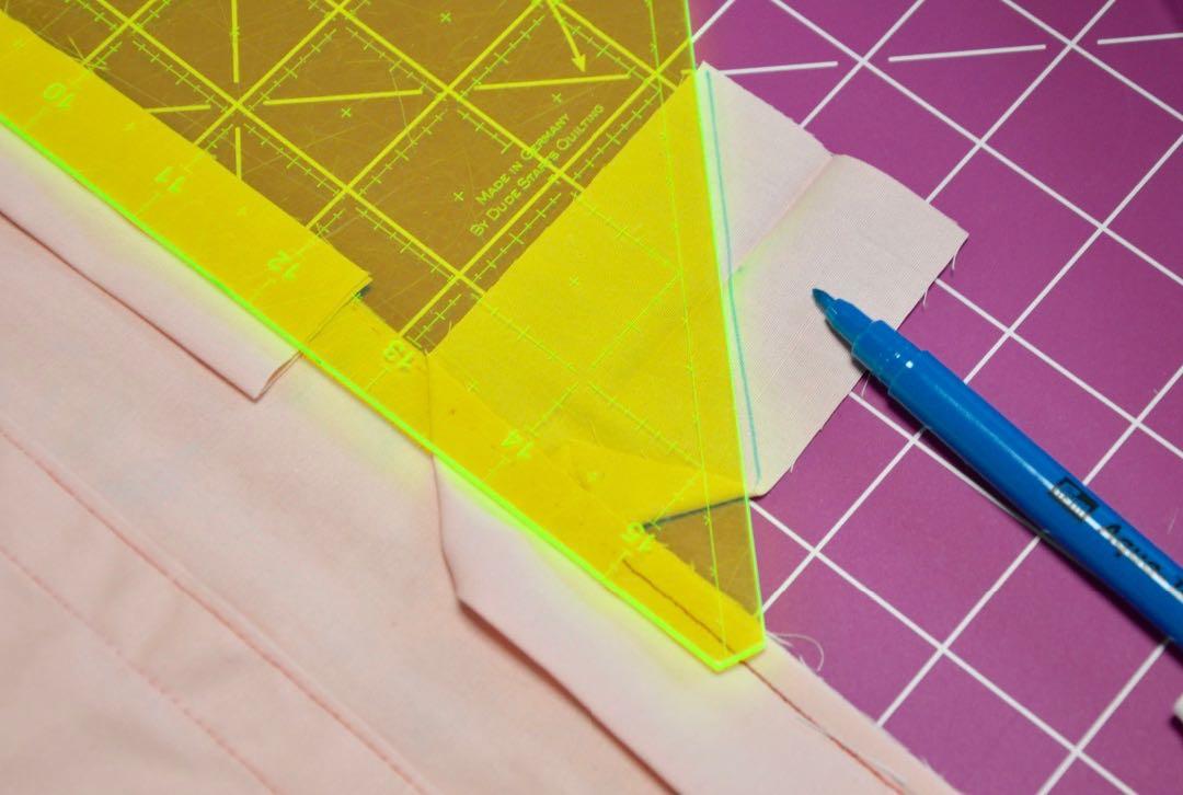 Diagonale Binding streifen